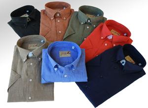 Kortärmade linneskjortor